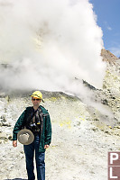 Mark In Front Of Gyser