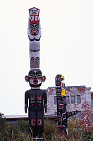 Totems In Front Of 'Namgis House