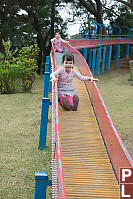 Kids On Outdoor Rollerslide