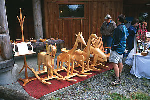Carved Wood Rocking Horses