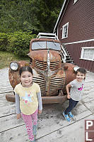 Kids With Old Truck