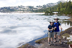 Mark And Helen In Front Of Rainbow Lake