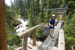 Mark On Suspended Bridge