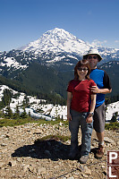 John And Helen In Front Of Rainier