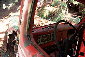 Interior of Old Ford Truck
