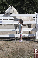 Claira Talking To Horse