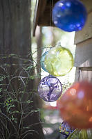 Glass Spheres Hanging
