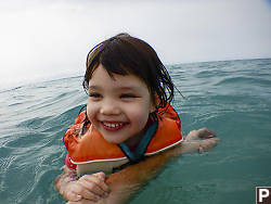 Claira Swimming In The Ocean