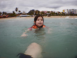 Nara Swimming In The Ocean