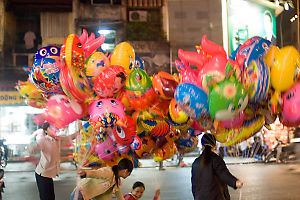 Street Vendors Selling Balloons