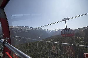 Glaciers Gondola And Blackcomb From Gondola
