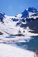 Tarn In Front Of Anniversary Glacier