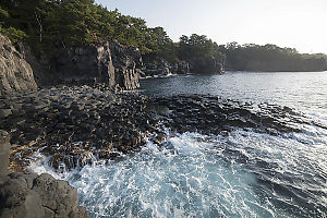 Oyodo Reef With Waterfall Behind