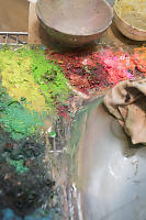 Thick Paint On Palette