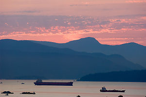 Freighters In Pastel Light